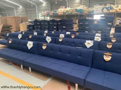 SOFA BECH SERTA BLUE FULLBOX -